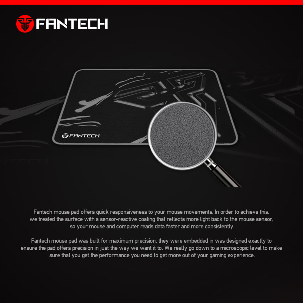MP35 Fantech Black /& Red Computer Gaming Mouse Pad Mat Control Edition Fast ship