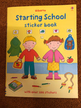 Load image into Gallery viewer, Usborne Starting School Sticker Book