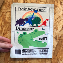 Load image into Gallery viewer, Nursery Times Crinkly Cloth Books - Rainbow Dinosaurs