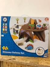 Load image into Gallery viewer, Bigjigs Dinosaur Railway Set