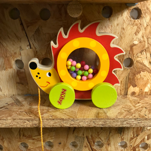 Toy Library NOT FOR SALE - Nuby Pull-along Hedgehog