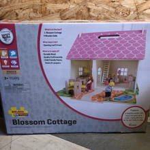 Load image into Gallery viewer, Toy Library NOT FOR SALE - BigJigs Blossom Cottage