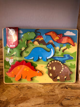 Load image into Gallery viewer, BigJigs Chunky Dinosaur Puzzle