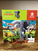 Load image into Gallery viewer, Crocodile Creek Wild Safari 500 piece puzzle