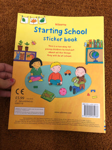 Usborne Starting School Sticker Book