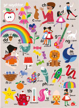 Load image into Gallery viewer, Ceri Gwen - Welsh alphabet A3 poster