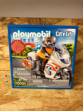 Load image into Gallery viewer, Playmobil - City Life Emergency Bike