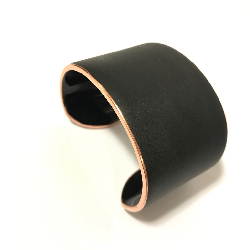 Matte finish enamel cuff