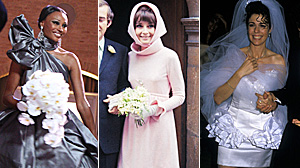 These Celebrity Wedding Dresses Bring on the Drama in Surprising Ways