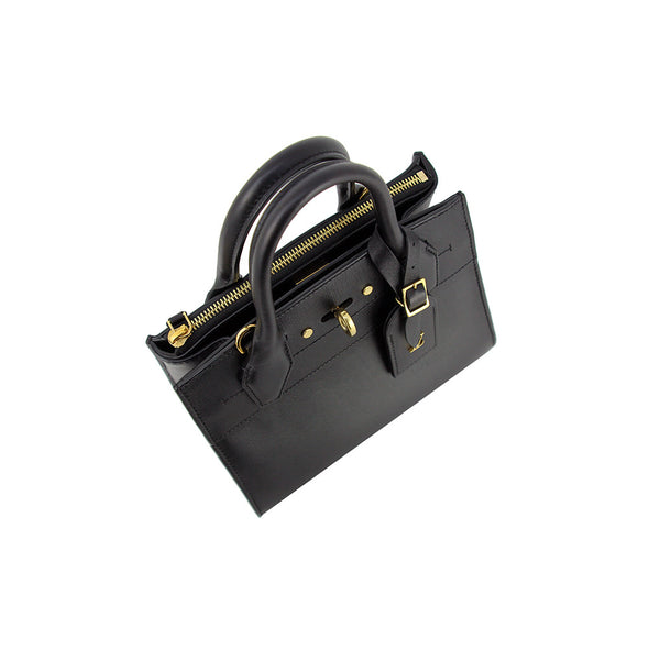 Louis Vuitton Shoulder Bag Tote City Steamer Mini Leather Black 2WAY Ladies Handbag