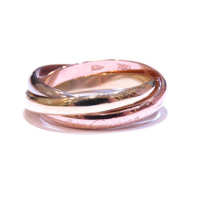 Cartier Trinity Ring Women's K18YG Yellow Gold Pink White No. 13