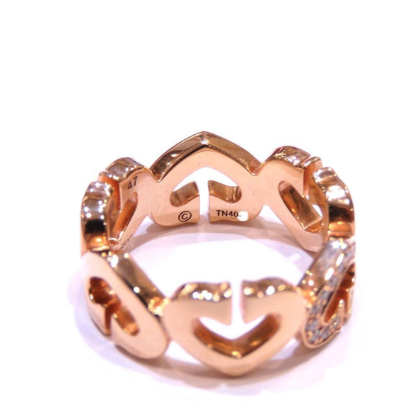 Cartier C Heart Dialing Ring K18PG 750 Pink Gold Diamond 6.5