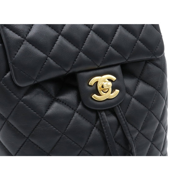 Chanel Matelasse Rucksack Backpack Chain Mini Coco Mark Lambskin Gold Hardware A91121