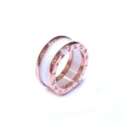Bvlgari B-zero1 ring S K18 750 pink gold white ceramic