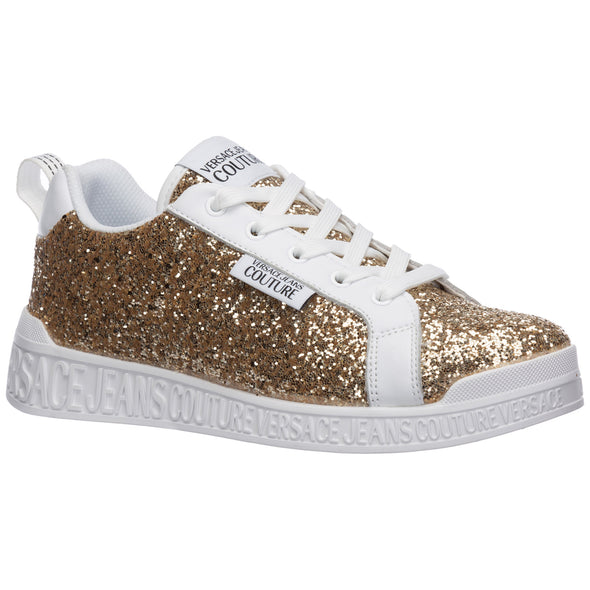 VERSACE JEANS COUTURE - Women's shoes leather trainers sneakers