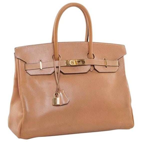 Hermes - Herms Brown Courchevel Leather Gold Birkin 35 234222