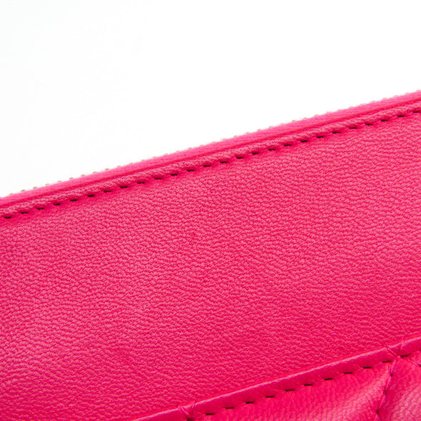 Chanel Matelasse Women's Leather Clutch Bag Pink