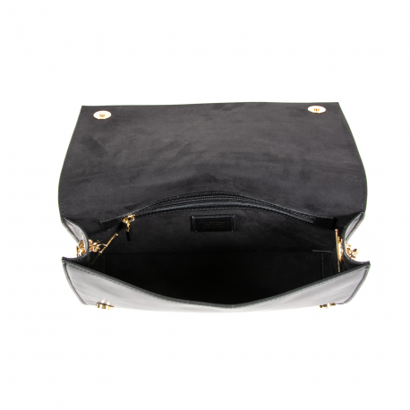 DEE KARA FLAP BAG KARA 03 SETA NERO - Luxury Designers Collections
