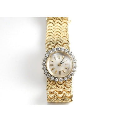 Rolex - Rolex Ladies 1 Carat Diamond 14k Yellow Gold Watch Automatic