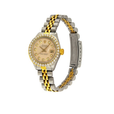 Rolex - Rolex Oyster Perpetual Two-tone Diamond Bezel 69173 Watch