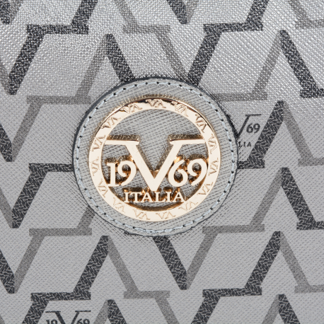 V 1969 ITALIA WOMENS HANDBAG SILVER ISCHIA 3659 SILVER - Luxury Designers Collections