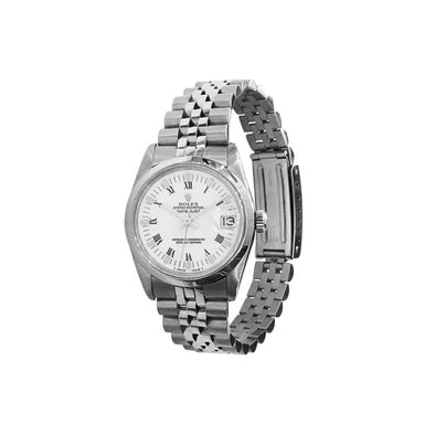 Rolex - Rolex Midsize Datejust 31mm White Roman Numeral Dial Watch 68240