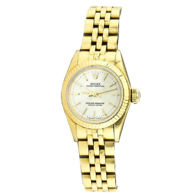 Rolex - Rolex Ladies Date-just Solid Gold Watch