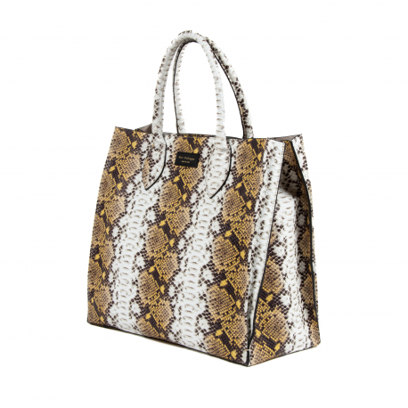 DEE PITONE HOLDALL TOTE DC207 PITONE GIALLO - Luxury Designers Collections