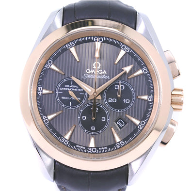 OMEGA Omega Seamaster Aqua Terra Chronograph 231.23.44.50.06.001 K18 Yellow Gold × Stainless Steel Self-winding Men's Gray Dial Watch