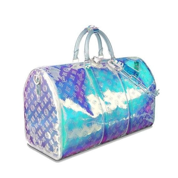 Louis Vuitton Keepall Ss19 Virgil Abloh Hologram Prism 50 Bandouliere 870370 - Luxury Designers Collections