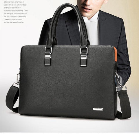 businessman with a leather briefcase