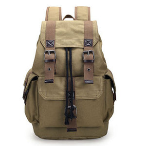 Canvas Casual Vintage Backpack - Wortii