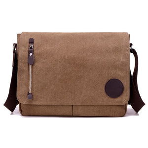 Canvas Messenger Bag For Laptop - Wortii