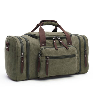 duffle bag in military green