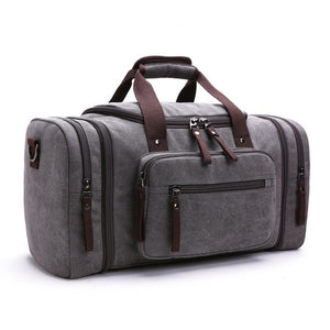 duffle bag in grey