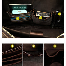 Load image into Gallery viewer, pictures showing the internal pockets of a leather briefcase