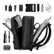 Load image into Gallery viewer, Travel bags for men, backpacks for men, bags for men, expandable, large capacity bag Wortii