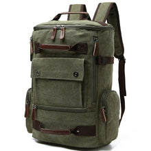 Load image into Gallery viewer, a large backpack in military green