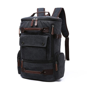 a large backpack in black