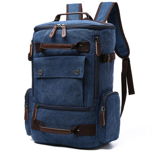 a large backpack in blue navy