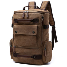 Load image into Gallery viewer, big backpack in brown