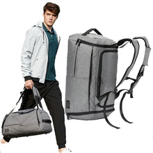 Load image into Gallery viewer, Duffle, backpack, multi function, bag, man bag, mens bags, canvas, crossbody bag, messenger bags, travel bags, wortii