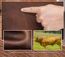 Load image into Gallery viewer, genuine cow leather certification