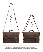 Load image into Gallery viewer, briefcase photo showing the expandable strap