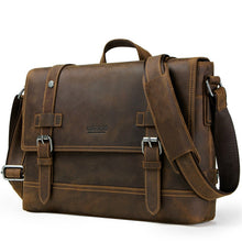Load image into Gallery viewer, leather briefcase brown