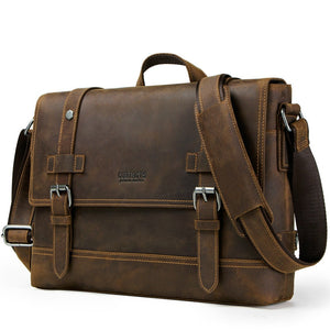 100% Genuine Leather Briefcase for Men - Wortii