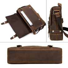 Load image into Gallery viewer, pocket specifications of a genuine leather briefcase