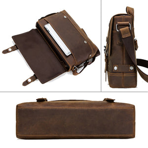 pocket specifications of a genuine leather briefcase