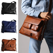 Load image into Gallery viewer, a guy carrying a leather shoulder bag