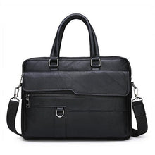 Load image into Gallery viewer, tote shoulder bag, shoulder bag, shoulder bag for men, casual business laptop briefcase, casual briefcase, casual laptop bag, leather bag, casual leather bag, bags for men, bag for office, office bags for men, bag for man, business bag for men, handbag for men, leather bag for man, leather laptop bag for men